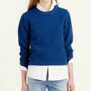 🌹2 FOR $43 | J CREW Quilted Navy Crop Sweatshirt